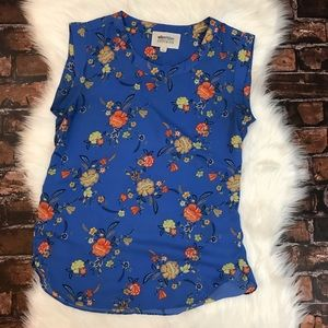 Alice Blue for Stitch Fix Blue Floral Tank Top
